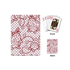 Transparent Decorative Lace With Roses Playing Cards (mini)  by Nexatart