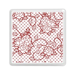 Transparent Decorative Lace With Roses Memory Card Reader (square)  by Nexatart