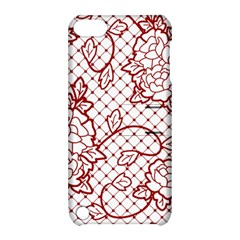Transparent Decorative Lace With Roses Apple Ipod Touch 5 Hardshell Case With Stand by Nexatart