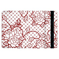 Transparent Decorative Lace With Roses Ipad Air Flip by Nexatart