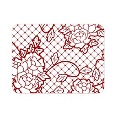 Transparent Decorative Lace With Roses Double Sided Flano Blanket (mini)  by Nexatart