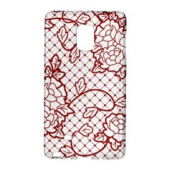 Transparent Decorative Lace With Roses Galaxy Note Edge by Nexatart