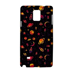 Space Pattern Samsung Galaxy Note 4 Hardshell Case by ValentinaDesign