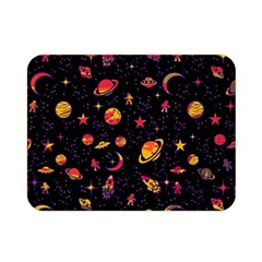 Space Pattern Double Sided Flano Blanket (mini)  by ValentinaDesign