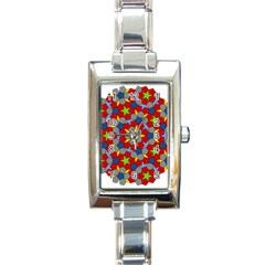 Penrose Tiling Rectangle Italian Charm Watch by Nexatart