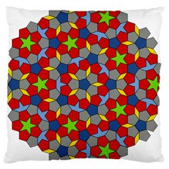 Penrose Tiling Large Cushion Case (two Sides) by Nexatart
