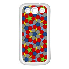 Penrose Tiling Samsung Galaxy S3 Back Case (white) by Nexatart