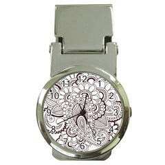 Henna Line Art Clipart Money Clip Watches by Nexatart