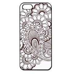 Henna Line Art Clipart Apple Iphone 5 Seamless Case (black) by Nexatart
