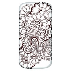 Henna Line Art Clipart Samsung Galaxy S3 S Iii Classic Hardshell Back Case by Nexatart