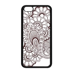 Henna Line Art Clipart Apple Iphone 5c Seamless Case (black) by Nexatart