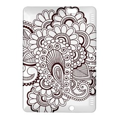 Henna Line Art Clipart Kindle Fire Hdx 8 9  Hardshell Case by Nexatart