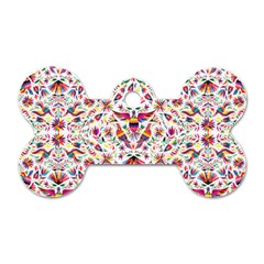 Otomi Vector Patterns On Behance Dog Tag Bone (two Sides) by Nexatart
