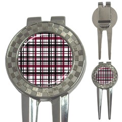 Plaid Pattern 3 In 1 Golf Divots by ValentinaDesign