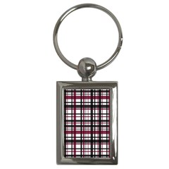 Plaid Pattern Key Chains (rectangle)  by ValentinaDesign