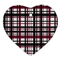 Plaid Pattern Heart Ornament (two Sides) by ValentinaDesign