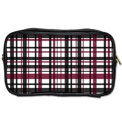 Plaid Pattern Toiletries Bags 2 Side by ValentinaDesign