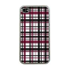 Plaid Pattern Apple Iphone 4 Case (clear) by ValentinaDesign