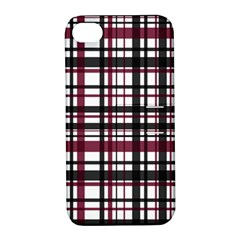 Plaid Pattern Apple Iphone 4/4s Hardshell Case With Stand by ValentinaDesign