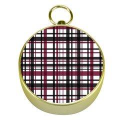Plaid Pattern Gold Compasses by ValentinaDesign