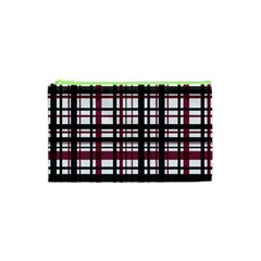 Plaid Pattern Cosmetic Bag (xs) by ValentinaDesign