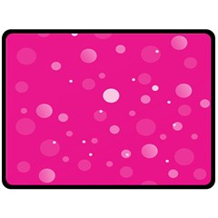 Decorative Dots Pattern Fleece Blanket (large)  by ValentinaDesign