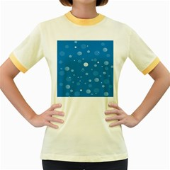 Decorative Dots Pattern Women s Fitted Ringer T Shirts by ValentinaDesign