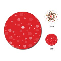Decorative Dots Pattern Playing Cards (round)  by ValentinaDesign