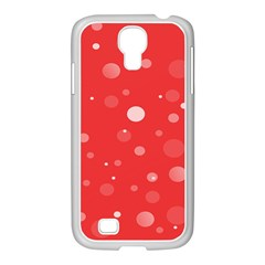 Decorative Dots Pattern Samsung Galaxy S4 I9500/ I9505 Case (white) by ValentinaDesign