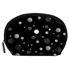 Decorative dots pattern Accessory Pouches (Large)