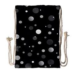Decorative Dots Pattern Drawstring Bag (large) by ValentinaDesign
