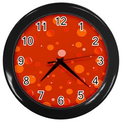 Decorative Dots Pattern Wall Clocks (black) by ValentinaDesign