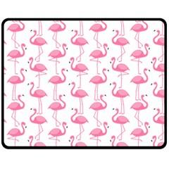 Pink Flamingos Pattern Fleece Blanket (medium)  by Nexatart