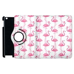 Pink Flamingos Pattern Apple Ipad 2 Flip 360 Case by Nexatart