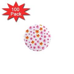 Watercolor Summer Flowers Pattern 1  Mini Magnets (100 Pack)  by TastefulDesigns