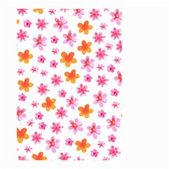 Watercolor Summer Flowers Pattern Small Garden Flag (two Sides) by TastefulDesigns