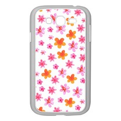 Watercolor Summer Flowers Pattern Samsung Galaxy Grand Duos I9082 Case (white) by TastefulDesigns