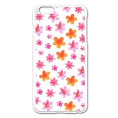 Watercolor Summer Flowers Pattern Apple Iphone 6 Plus/6s Plus Enamel White Case by TastefulDesigns
