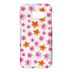 Watercolor Summer Flowers Pattern Samsung Galaxy S7 Hardshell Case  by TastefulDesigns