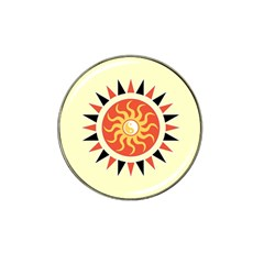 Yin Yang Sunshine Hat Clip Ball Marker (4 Pack) by linceazul