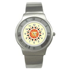 Yin Yang Sunshine Stainless Steel Watch by linceazul