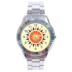 Yin Yang Sunshine Stainless Steel Analogue Watch by linceazul