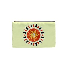 Yin Yang Sunshine Cosmetic Bag (small)  by linceazul