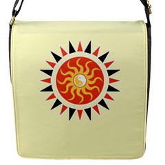 Yin Yang Sunshine Flap Messenger Bag (s) by linceazul