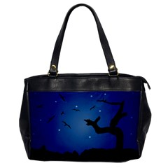 Nightscape Landscape Illustration Office Handbags by dflcprints