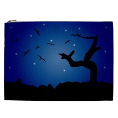 Nightscape Landscape Illustration Cosmetic Bag (xxl)  by dflcprints