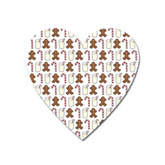 Christmas Trio Pattern Heart Magnet by Nexatart
