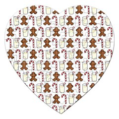 Christmas Trio Pattern Jigsaw Puzzle (heart) by Nexatart
