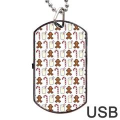 Christmas Trio Pattern Dog Tag USB Flash (Two Sides)