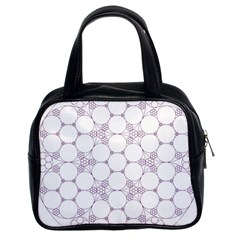 Density Multi Dimensional Gravity Analogy Fractal Circles Classic Handbags (2 Sides)